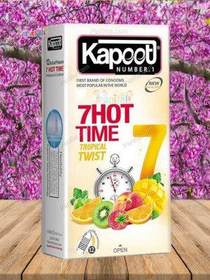 کاندوم 7 هات تایم کاپوت - کاندوم گرم کننده - کاندوم داغ کننده - کاندوم تاخیری - کاندوم کرمان